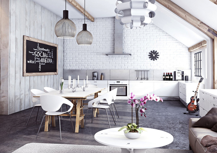 White-brick-wall-in-the-interior-design