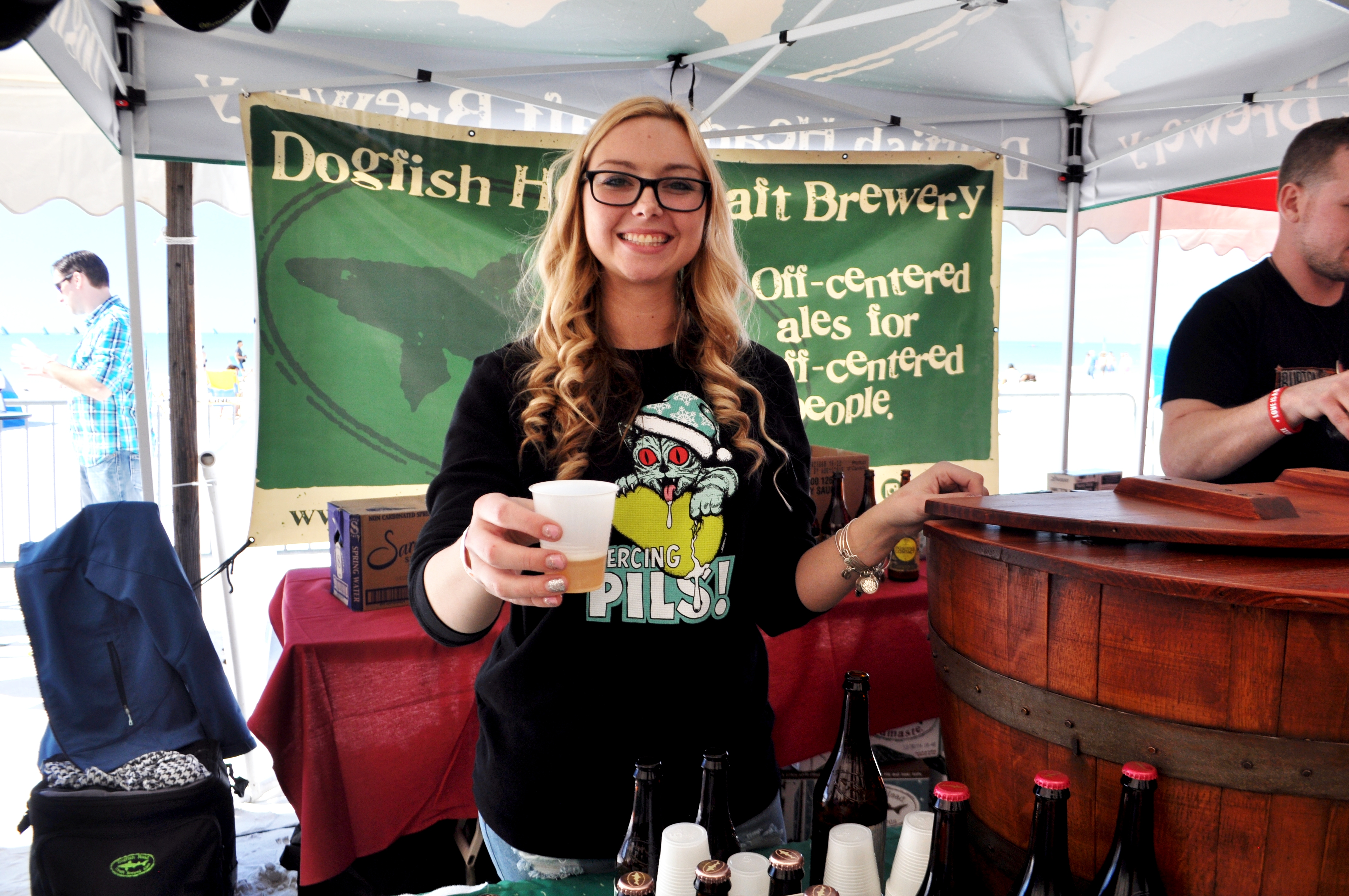 Dogfish Head Beer - Clearwater Beach Uncorked, Food, Wine & Beer Festival. Clearwater Beach, Florida, Feb. 7, 2015