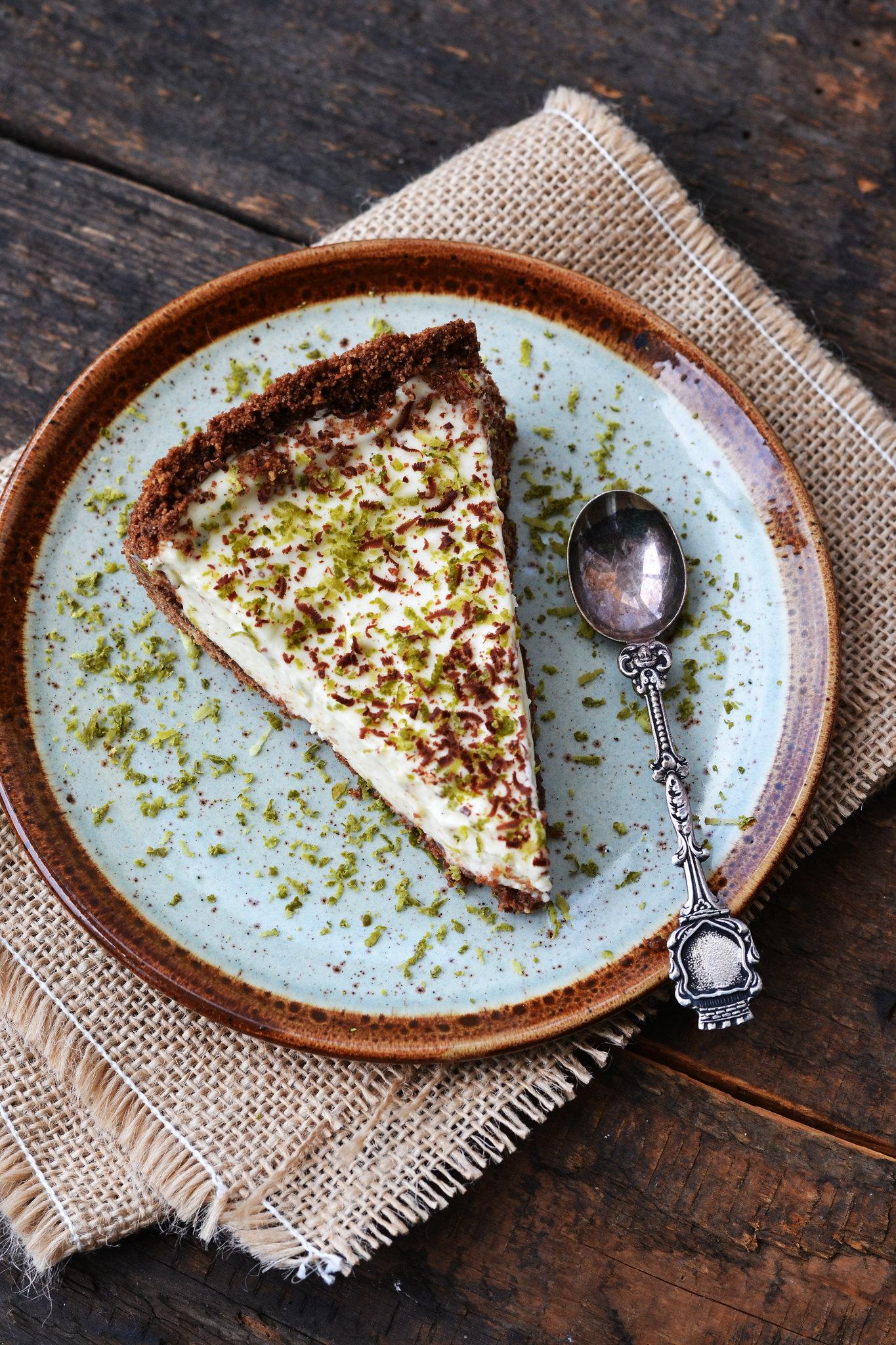 tarta de ciocolata si crema de lime