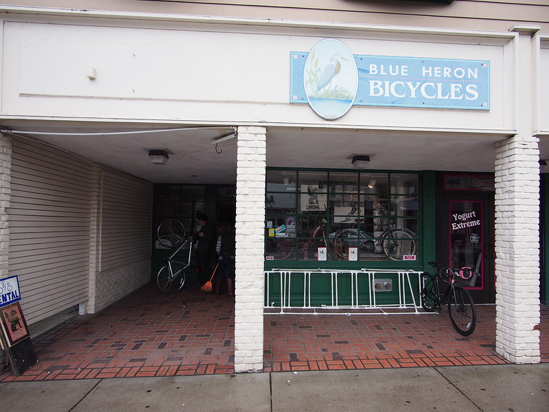 Blue Heron Bicycles: The first shop we toured.  The owner was very knowledgeable.