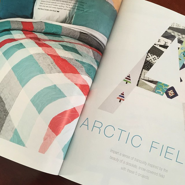 Tartan Quilt in Modern Patchwork Winter 2015