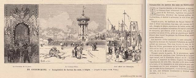 Lễ khánh thành tháp nước tại Saigon, ngày 03-01-1882