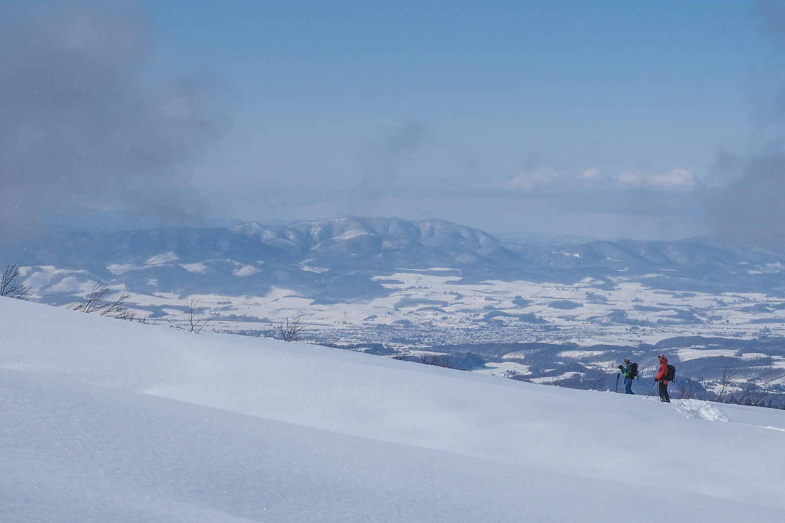 Expansive views over the Furano plains (Hokkaido, Japan)
