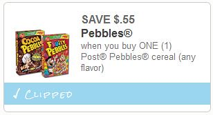Post Pebbles Cereal