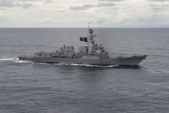 In this file photo, USS William P. Lawrence (DDG 110) transits the Pacific Ocean in early February. (U.S. Navy/MC3 Emiline L. M. Senn)