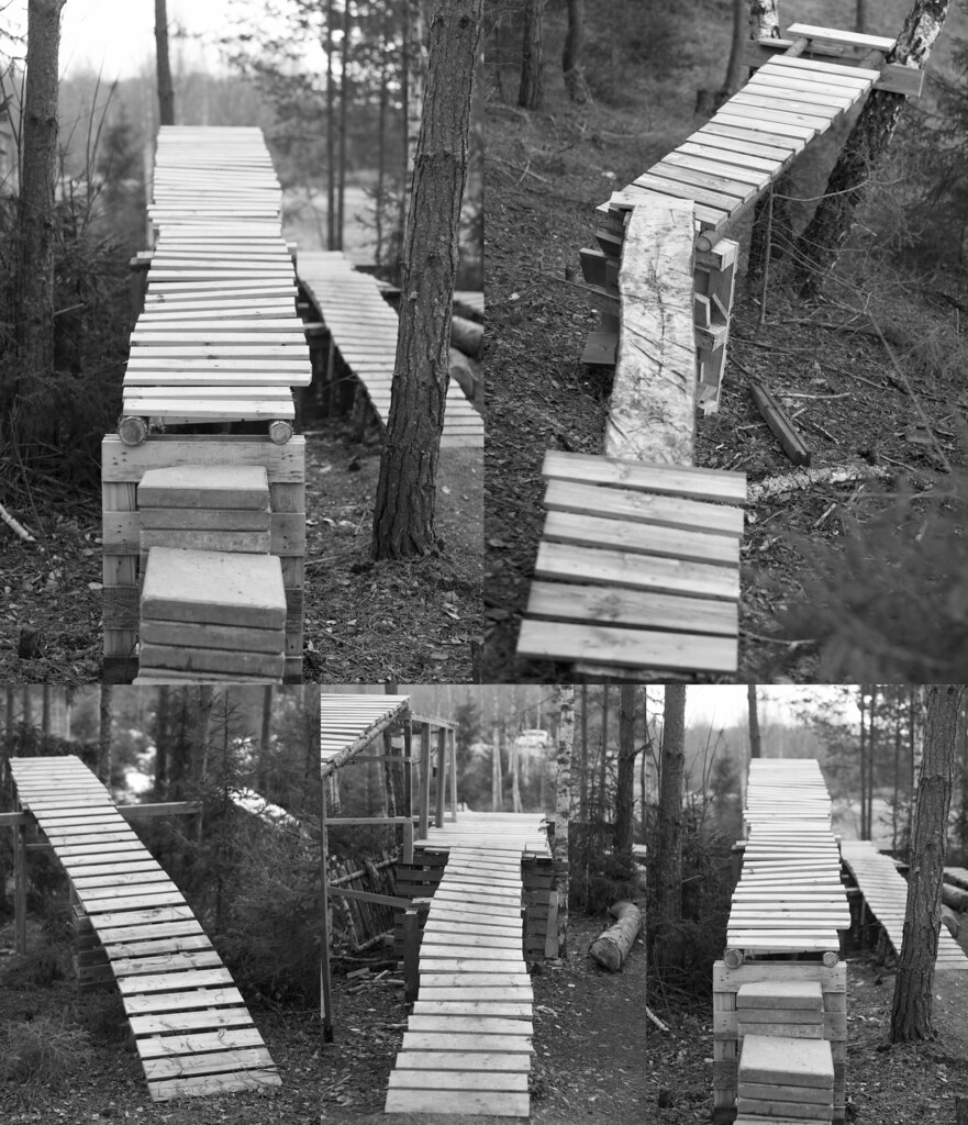 Five Wooden Jumps