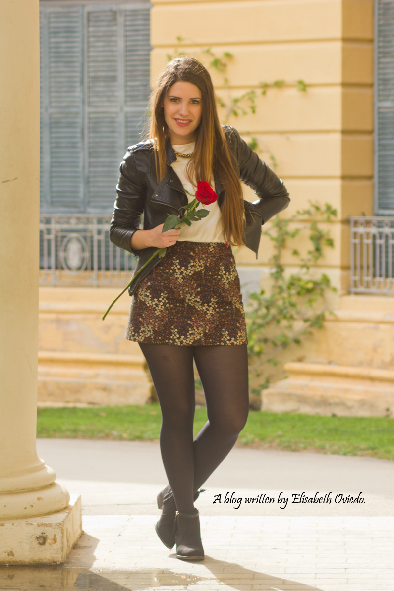 floral skirt ZARA botines Zalando new look outfit post HEELSANDROSES (7)