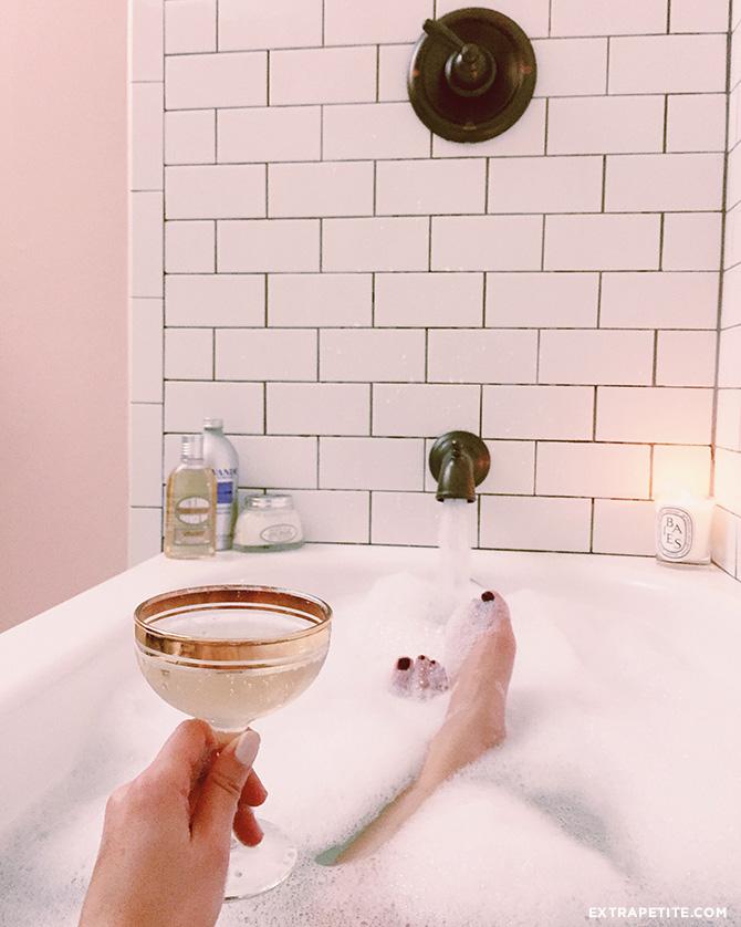 bathroom bathtub decor subway tile bronze faucet