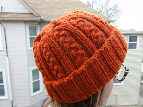 Simple Braided Cable Knit Hat