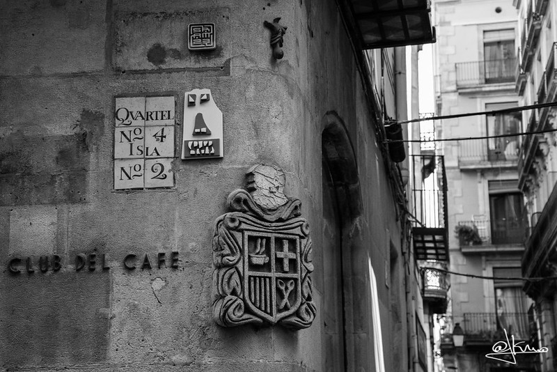Quartel nº 4 Isla nº 2, Placa del S. XVIII, carrer del Call, Barcelona