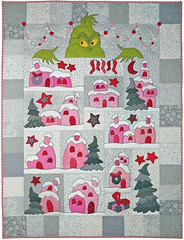 Down in Who-Ville Custom Quilt by Whimzie Quiltz