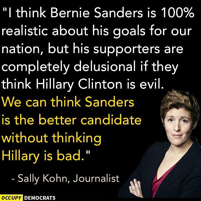 occupy democrats hillary isnt bad or evil