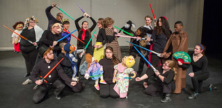 "Wed, 03/30/2016 - 16:38 - Genesee Community College Forum Players Children's Theatre ensemble present ""Little Red Robin Hood. Left to right front row: Front: Drew Burt, Blake Carter, Marissa Carbonell, Sarah Lawson, Shelby Waterman. Back row: Rebecca Truesdell, Alex Farley, Rashadsan Alexander, Akihiro Tamura, Amanda Scaglione, Amber Foppes, Shilo Foppes, Alden Foppes, Maria Albanese and Michael Stewart."