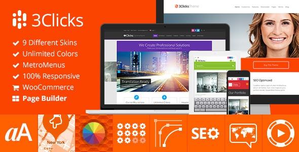 3Clicks v3.9 - Responsive Multi-Purpose WordPress Theme