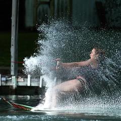 Splash.   #skiing #seniorexperience #seniorpictures #120art #adventure #waterskiing #seniorportaits #lakelife #sportsphotography