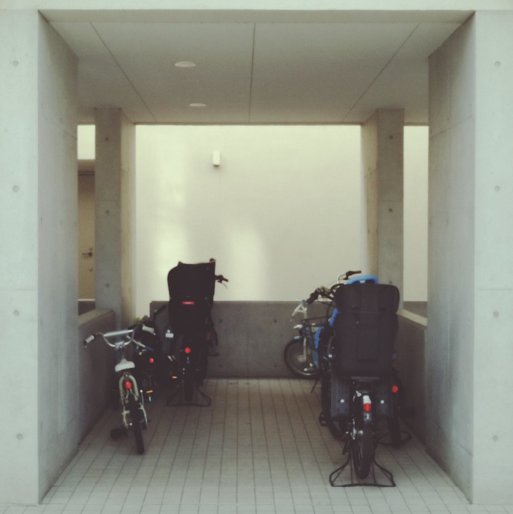 Bicycle parking on first floor