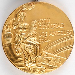 Los Angeles 1984 Summer Olympics Gold Winner's Medal reverse