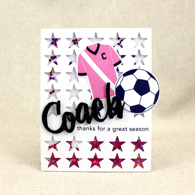 Coach Thank You Shaker Card