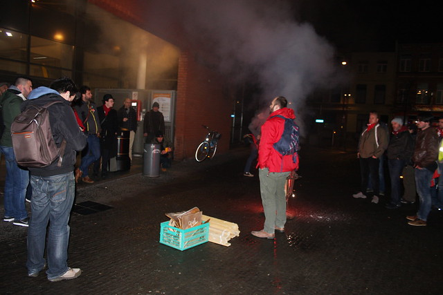 Spoorstaking Antwerpen Berchem / Foto's door Liesbeth