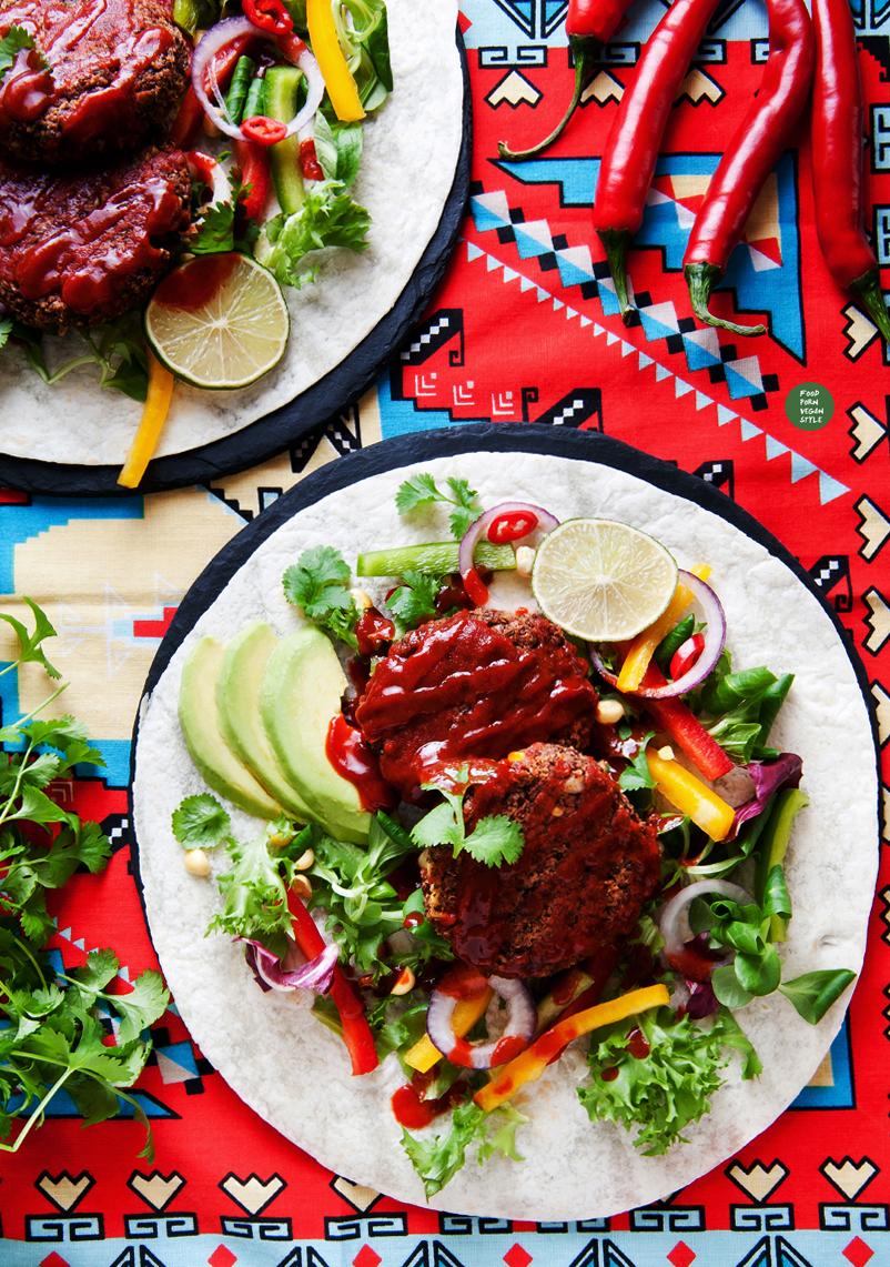 Vegan mexican patties / burgers