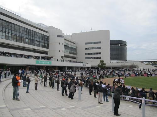 京都競馬場パドック観覧スペース