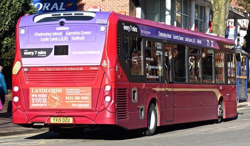 National Express West Midlands 2229 ADL Enviro200 MMC YX15 OZU