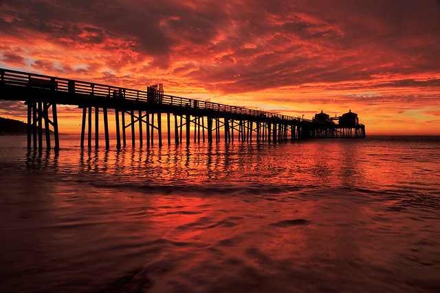 Malibu Pier - Day of the Red