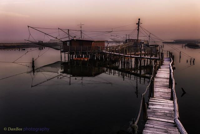 Winter Sunrise on the Comacchio Lagoon