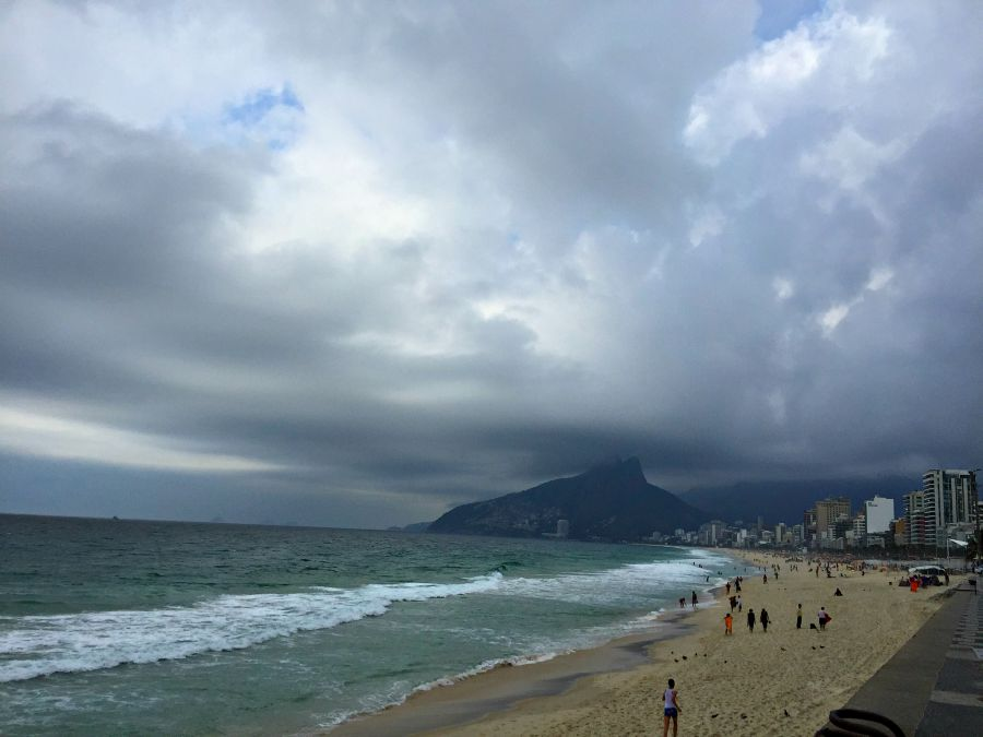 Back in Copacabana, right before the rain
