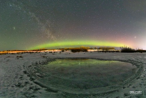 Northern Lights early this morning in Bethel, Alaska.
