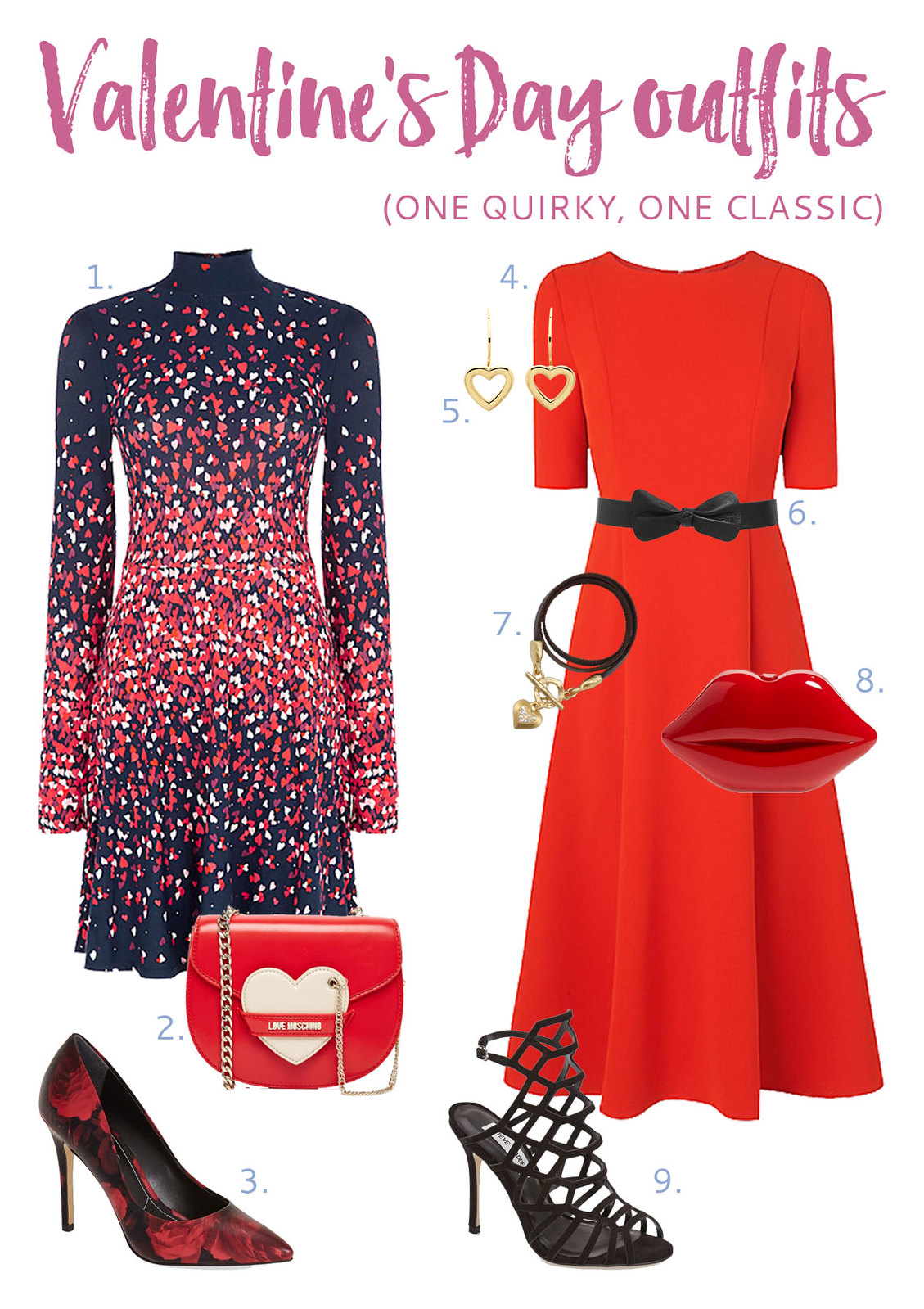 Valentine's Day Outfit Ideas | One quirky, one classic