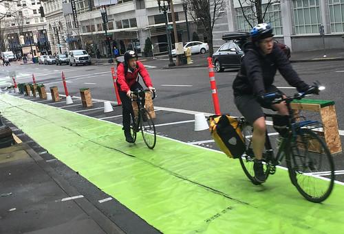 Pop-up bikeway on SW Broadway-7.jpg