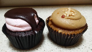 Turkish Delight and PBJ Cloverly Cupcakes from Charlie's Raw Squeeze Greenslopes