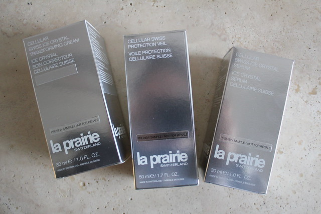 La Prairie Cellular Swiss Protection Veil and Cellular Swiss Ice Crystal Transforming Cream