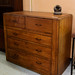 Chest drawers dark wood