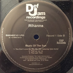 RIHANNA:MUSIC OF THE SUN(LABEL SIDE-B)