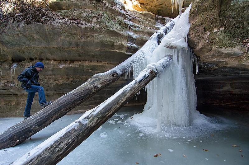 Exploring Kaskaskia Falls