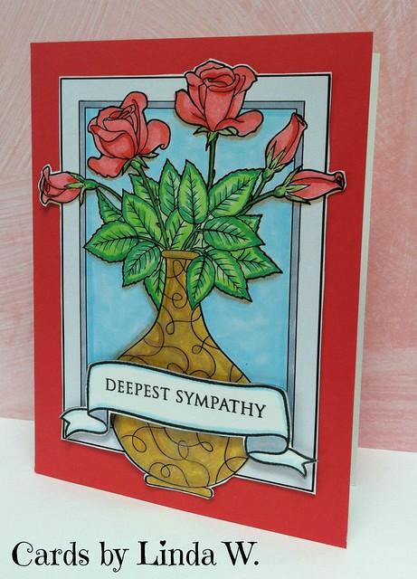roses in vase sympathy