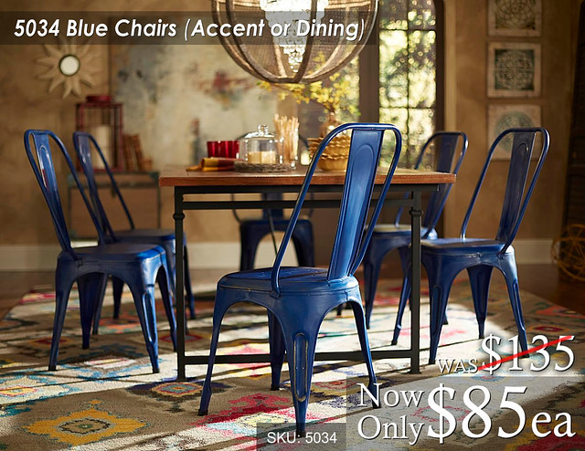 5034 Blue Chairs Accent or Dining