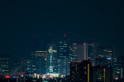 I tried to shoot the Shinjuku skyscrapers from Bunkyo Civic Center