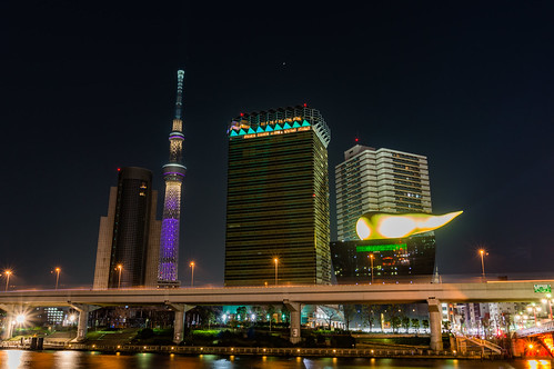 Overlooking the Tokyo Sky Tree from Azumabashi