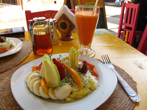 San Cristóbal de las Casas: petit-déjeuner de champion avec un jus de carotte