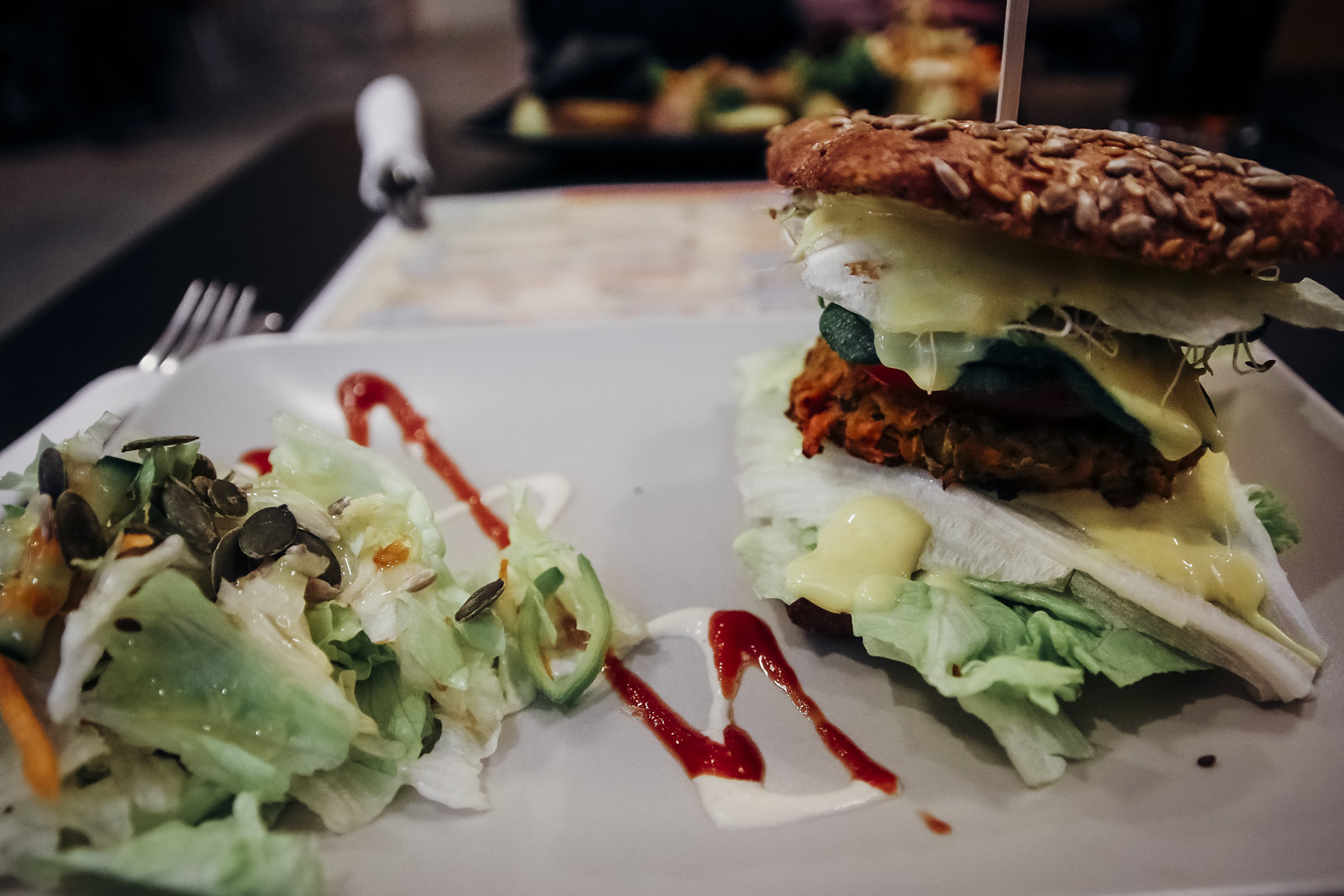 veggie burger, kohvik inspiratsioon
