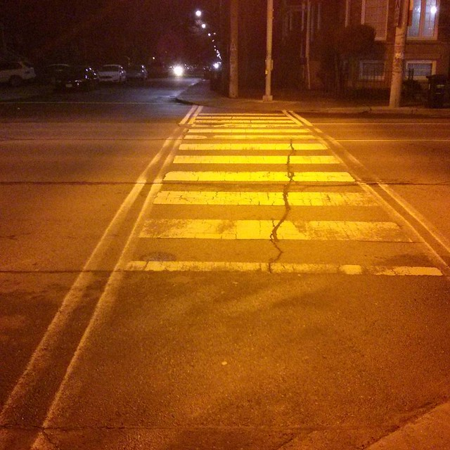 Crosswalk, Dupont at Bartlett #toronto #dovercourtvillage #dupontstreet #bartlettavenue #crosswalk