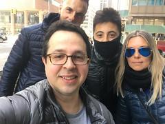 Fede con Ezequiel, Matías y Florencia de Argentina