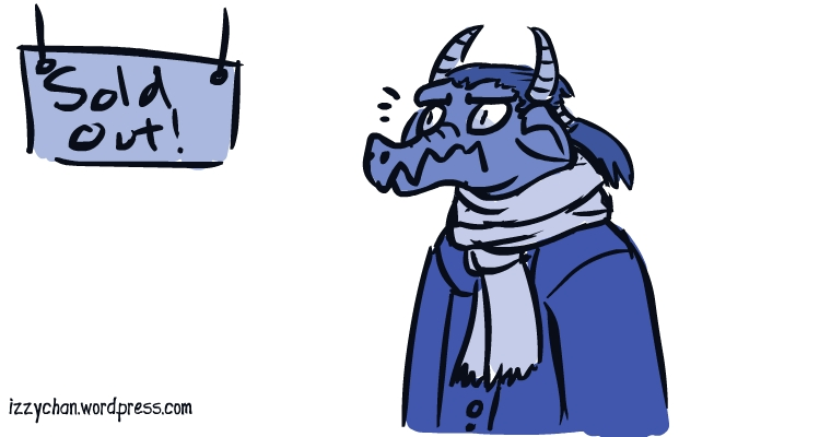 blue monochrome dragon guy sold out