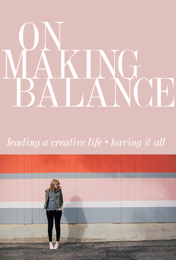 on making balance