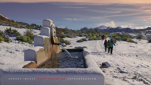 Caminando por la nieve - Entre Valporquero de Torío y Villamanín - Hacia el Collado de Jete
