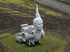 Sculpture below John Frost Brug, Arnhem