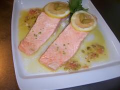 Supremas de salmón vinagreta